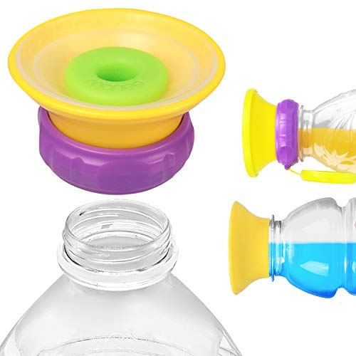 Monee - Sippy Cup Cap - Transform Store Bottles into Spill-Proof Sippy Cups - Utensils for Babies, Toddlers and Kids