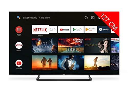 Téléviseur LED Ultra HD 4K 127 cm TCL 50EP682 - TV LED 4K 50 pouces - TV connecté / Smart TV - Netflix - Android TV - Tuner TNT terrestre / satellite - Prise casque - Son 2 x 8 W