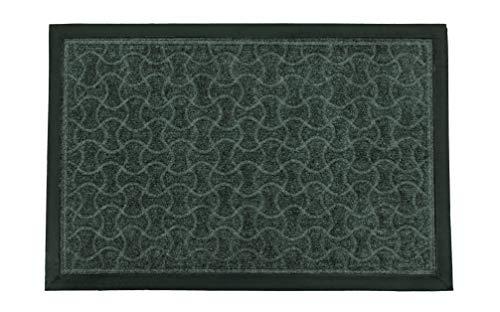 LucaHome - Felpudo Entrada casa de CIPRO Antideslizante, Felpudo, fácil Limpieza, Felpudo Absorbente alcolchado, Fepudo para Exterior e Interior (Gris Geometrico, 45x75 cm)
