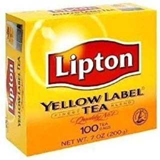 Lipton Yellow Label Finest Blend Tea Bags 100 tea bags Pack of 2 (2 x 7 ox / 2 x 200 g)