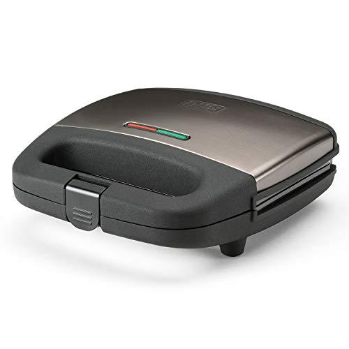 Black+Decker ES9680070B BXSA751E Sandwich-Maker, 750, Edelstahl, Pantone 10394