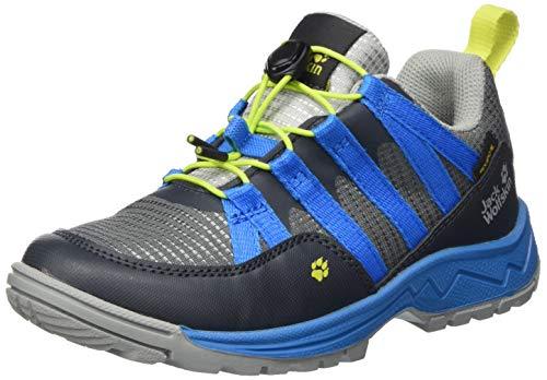 Jack Wolfskin Unisex Kinder Thunderbolt Texapore Low K Walking-Schuh, Grey/Blue, 34 EU