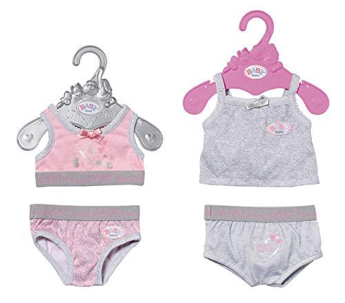 Zapf Creation 827543 BABY born Unterwäsche Puppenkleidung 43 cm, 1 Stück, Farbe nach Vorrat