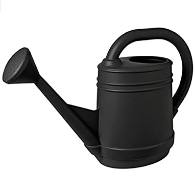 Bloem 2 Gallon Light Weight Traditional Watering Can, Slate Resin
