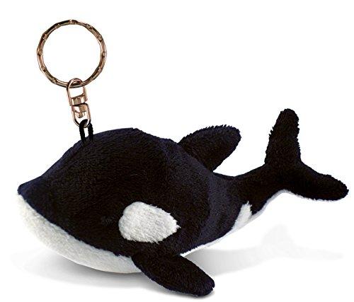 Puzzled Killer Whale Plush Keychain