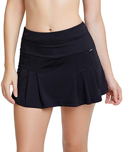 Women's Black Tennis Skirt Spike At…