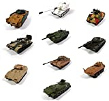 - Lotto di 10 Veicoli Militari 1/72 T-44 Tiger 2S4 TYULPAN Vulcan AMX MCV-80 - Carri Armati WW2 (RIF: 05)