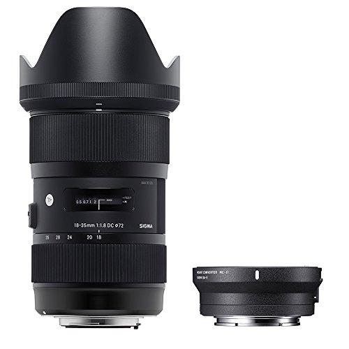 Sigma 210954_89E965 - Kit 18-35 mm F/1.8 Art EOS + MC-11, Color Negro