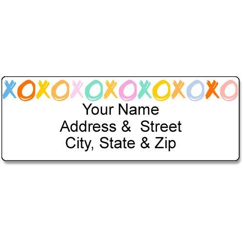 Hug & Kisses Address Label - Customized Return Address Label - 90 Labels