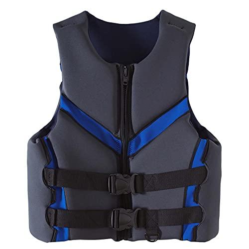 Sunangle Chaleco Salvavidas Adultos Kayak, Anticolisión Chaleco de Flotabilidad Profesional Chaleco de Natación Seguridad Ajustable de Verano para Paddleboarding,Gris,XL