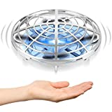 Hand Operated Drones for Kids or Adult - Interactive Infrared Induction Indoor Helicopter Ball with 360° Rotating and Shinning LED Lights,Hand-Controlled Flying Ball Toys for 5 6 7 8 9 10 11 12 Years