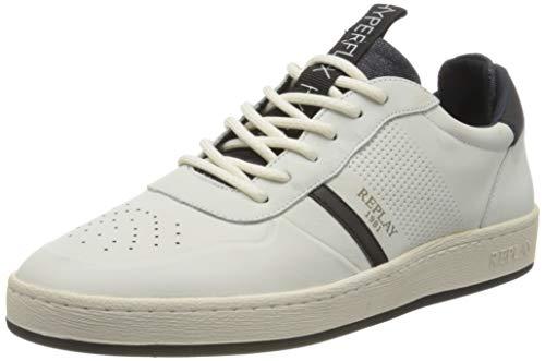 Replay Herren Blog - Eliot Sneaker, Mehrfarbig (Off Wht Black 112), 46 EU