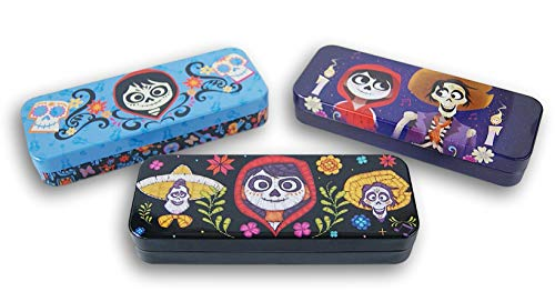 Coco Metal Tin Pencil Case Pencil Case, Marker Case, Crayon Case, Back to School Shopping for Students (Set of 3)