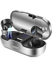 【進化版Bluetooth 5.0】 BEVA完全ワイヤレスイヤホン Hi-Fi高音質 最新Bluetooth5.0+EDR搭載 100時間連続駆動 3Dステレオサウンド 自動ペアリング マイク付き 左右分離型Siri対応IPX7防水規格大容量充電ケース付きIOSとAndroidに適用