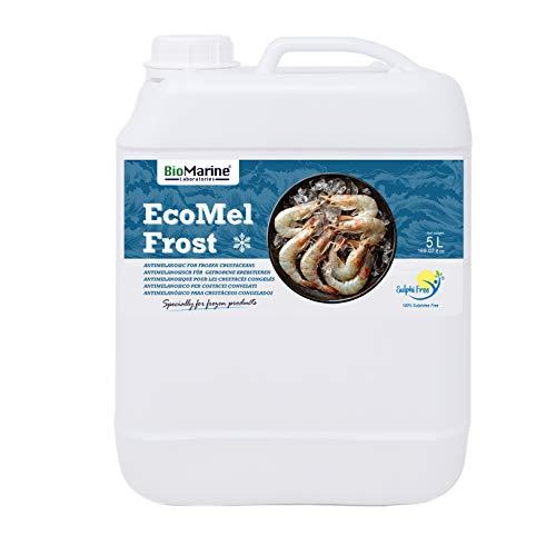 EcoMel Frost Antimelanósico 5 L. Tratamiento para todo tipo de Crustáceos destinados a Congelación (Langostinos, Bogavantes, Cangrejos, etc.). Aditivo Líquido BioMarine. Libre de Sulfitos.