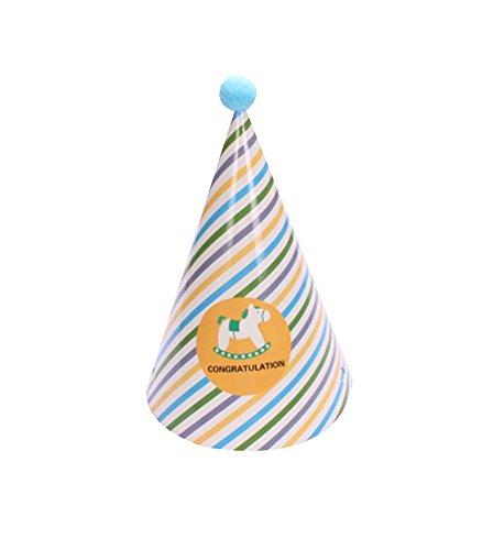 Blancho Wooden Horse, Fournitures 5Pcs d'anniversaire d'enfants Hat Party Party Hat