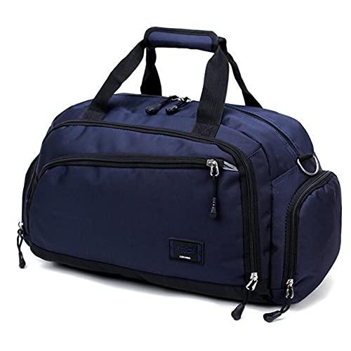 ZSDFW - Borsone sportivo da uomo, grande borsa da viaggio, borsa da viaggio, per sport, palestra, sport, viaggi, nuoto, yoga, escursionismo, campeggio, fine settimana, blu scuro