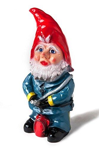 Zwerg Feuerwehrmann, 45 cm, Gartenzwerg, Kunststoff