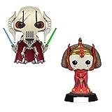 2 Piezas Lindas Figuras Pop Star War General Grievous & Queen Amidala Vinyle Figura Modelo Muñecas Juguetes para Niños Regalos con Caja 10Cm
