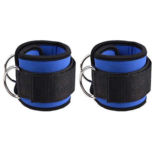 kunfang Tobilleras Deportivas D Ring para Cable Máquinas Par De Correas De Tobillo Acolchadas De Velcro con Ganchos Mujeres Hombres Entrenamiento De Piernas Y Glúteos En Polea