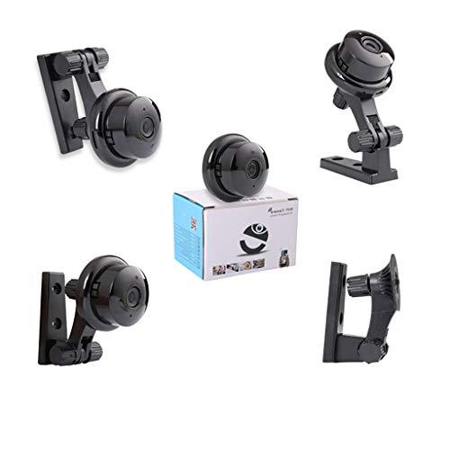 Wanshop Mini Kamera Überwachungskamera Aussen/Innen HD Mini WiFi Wireless Home Security Kamera Überwachungs-Kamera mit Nachtsicht und Bewegungserkennung (schwarz)
