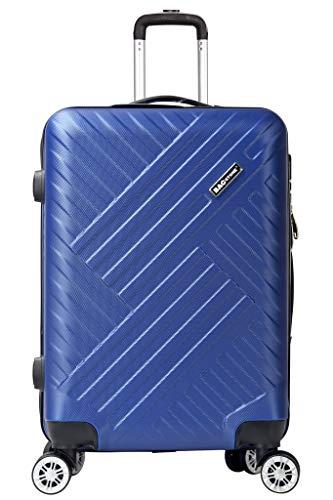 Bagstone Next Maleta Equipaje de Mano Cabina rígida 57 Cm 46 Liters 8 Ruedas Combinaison Candado Azul