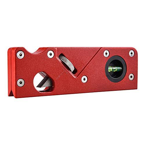 Pemedor Mini cepilladora de bordes de carpintería para carpintería, plano de esquina biselado de 45 grados, herramienta manual para carpintero, ligera, portátil, para accesorios de carpintero (rojo)
