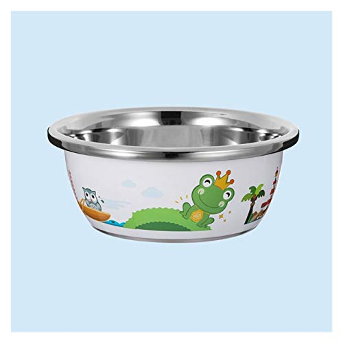 ZHENZEN Stainless metal mixing bowl salad bowl Multifunctional mixing bowl Can wash child bottles and fruits Stackable Reduce cupboard space (Size : 20cm)