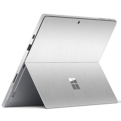 """MasiBloom Laptop Decal Sticker for 12.3"""" Microsoft Surface Pro 7 (2019 Released) 12.3 inch Anti-Scratch Vinyl Protective Cover Skin (for 12.3' Surface Pro 7, A Wire Drawing- Siver)"""