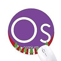 化学元素周期表遷移金属オスミウムOS 円形滑りゴムのマウスパッドクリスマス飾り