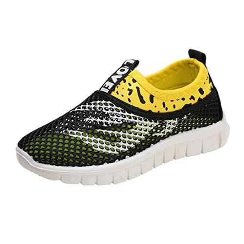 Vamoro Infant Kinder Baby Jungen Mädchen Mesh Feuer Print Sport Run Sneakers Freizeitschuhe Mesh Schuhe Atmungsaktiv Sandalen Geschlossene Sandalen(Schwarz,24 EU)
