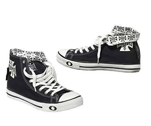 WEST COAST CHOPPERS Schuhe WCC Warriors, Farbe:schwarz, Größe:37
