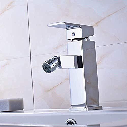 ZJN-JN Grifería de Lavabo Cromo pulido sola palanca baño bidet cubierta montada Square Mixer Taps Las mujeres Uso Toque de color @ Accesorios para el baño
