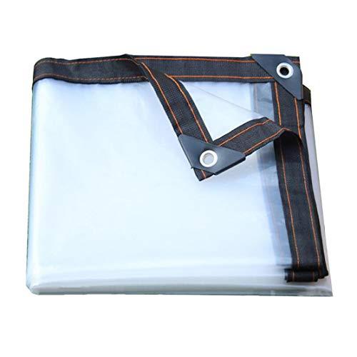 MFASD dekzeil met ogen, versterkte randen, transparant dekzeil, scheurbestendig, kunststof folie voor dak/tuin/zwembad/terras