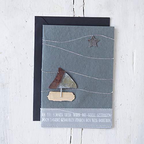 "Trauerkarte\""Boot\"""