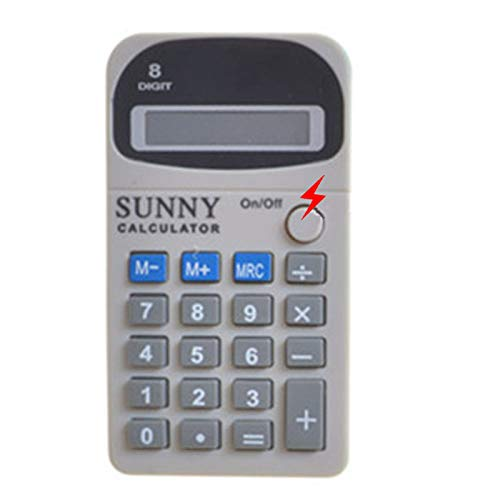 Cooplay Shocking Fake Calculator Model Pocket Counter Prank Toy Joke Funny Gadget Electric Shock Tricky Gag Veigar April Fools Day for Halloween Party