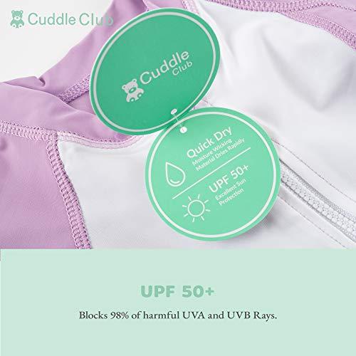 Cuddle Club Traje de Baño de una Sola Pieza Anti UV 50+ Bañador Bebé con Protección Solar – RashguardDuck3-6m