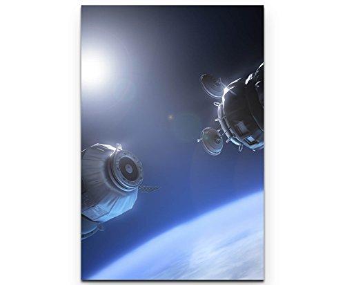 Paul Sinus Art Raumstationen im Weltall - Poster gerollt 90x60cm