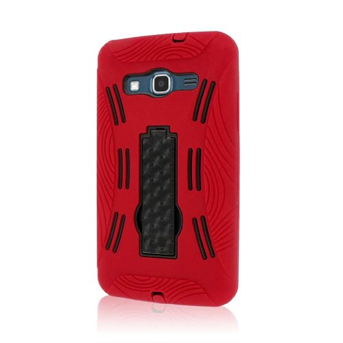 MPERO Impact XL Series Kickstand Hülle Tasche Hülle for Samsung ATIV S Neo I800 I8675 - Red