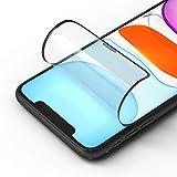 RhinoShield Protector de Pantalla Impact 3D Compatible con [iPhone 11 / XR]   3X Protección contra Impactos - Bordes 3D para una Protección Completa - Resistente a Arañazos - Negro