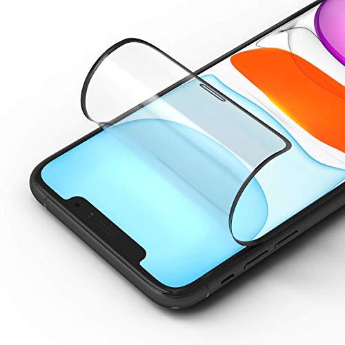 RhinoShield Protection écran 3D Impact compatible avec [iPhone 11 Pro/Xs/X] | 3X plus de protection contre les chocs - Bords incurvés 3D pour une couverture complète - Résistance aux rayures- Noir