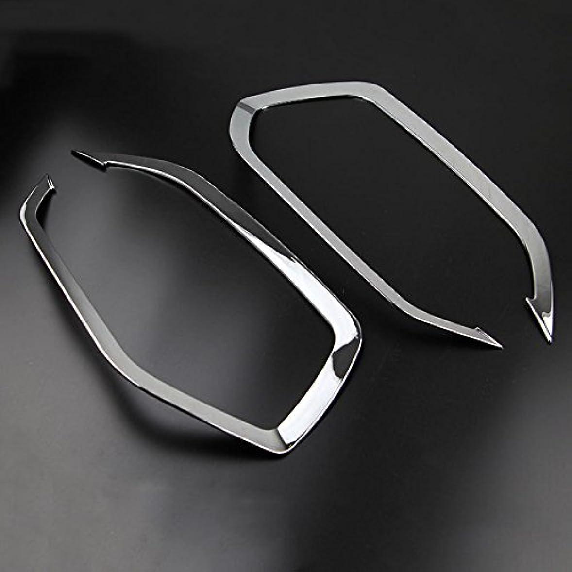良心的変更可能音節Jicorzo - 2個ヒュンダイツーソン2016年から2017年カーアクセサリースタイリングのために車クロームフロントフォグヘッドライトカバートリムカーランプモールディング
