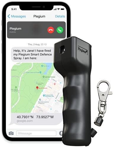 Plegium SMART MINI Self Defence Spray Criminal Identifier (Black) Alerts...
