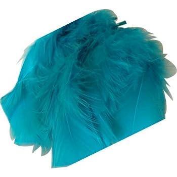 M /& C Environ 25 Plumes Coloris Turquoise Deco f/ête Mariage