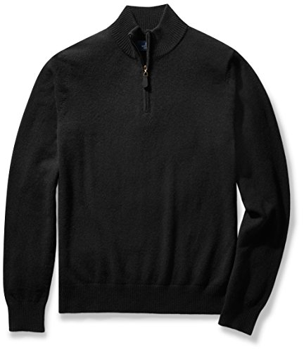 Mens Quarter Zip Cashmere Sweater