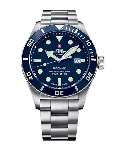 Swiss military Chrono Reloj para Hombre Analógico de Automático con Brazalete de Acero Inoxidable SMA34075.02