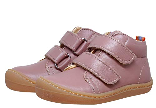 Koel4kids Barefoot Bio - Zapatillas de piel para aprender a caminar, color Rosa, talla 22 EU