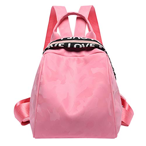 Leedy Fashion Zaino da donna mimetico, borsa a spalla, casual, con chiusura lampo, per scuola, ragazze, studenti, outdoor, 2019, (Rosa), Taglia unica