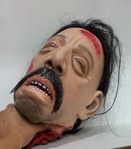 Le caoutchouc plantation TM 619219293174 Severed Head Décoration d'Halloween avec Attached Perruque réaliste Gory horreur Table de fête Prop, adulte, taille unique