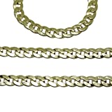 NEVER SAY NEVER - Collana da uomo in oro giallo 18 k, larghezza: 4 mm e lunghezza: 60 cm, con chiusura a moschettone